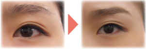 眉のスタイリングのイメージ